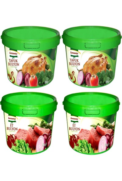 Lezzetçi 2 Adet Tavuk + 2 Adet Et Bulyon 5 kg