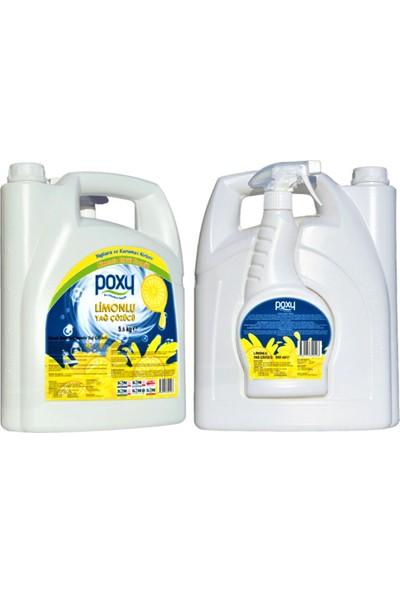 Poxy Limonlu Yağ Çözücü 5500 ml & 500 ml