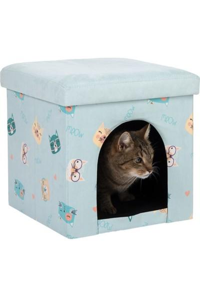 Lider Katlanabilir Taşınabilir Küp Şeklinde Seyahat Kedi Evi Kedi Yatağı 38 x 38 x 38 cm