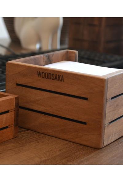 Woodsaka 3line Küp Not Kağıdı Kutusu