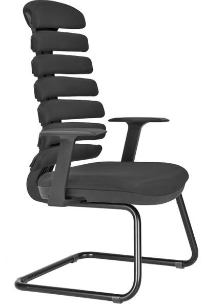 Nazalli Spring Ergonomik ve Ortopedik Ofis Misafir Koltuğu Siyah Sp 16
