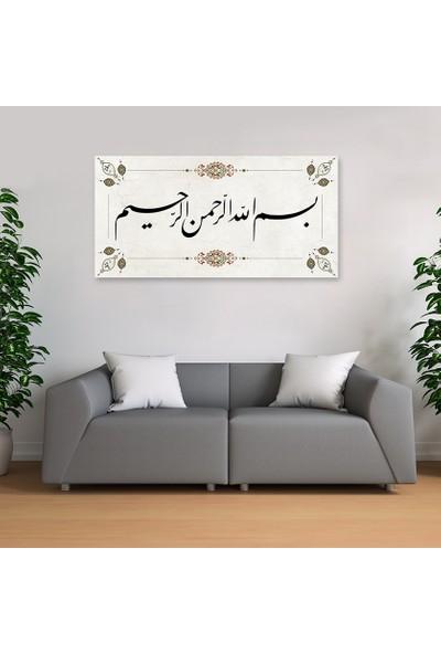 Nazenin Design Besmel - Bismillahirrahmanirrahim Dini Hat Kanvas Tablo