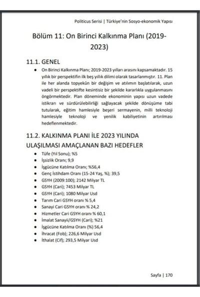 Politicus Türkiye'nin Sosyo Ekonomik Yapısı Konu Anlatımı