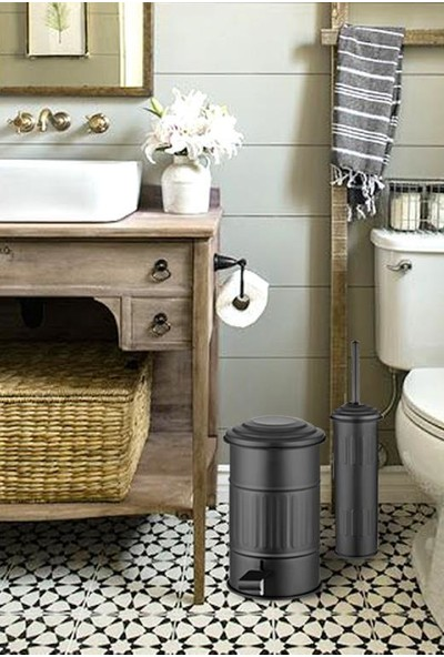 The Mia Çöp Kovası Banyo - Siyah