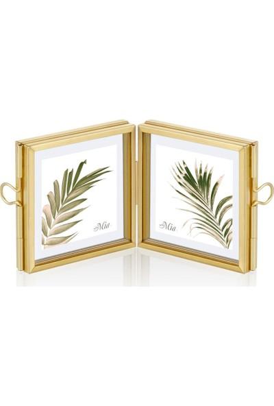 The Mia Brass Çerçeve 12 x 6 cm