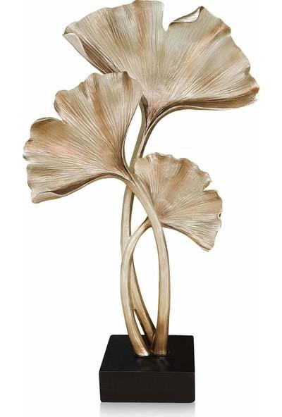 The Mia Dekoratif Gingko - 55 cm Gold