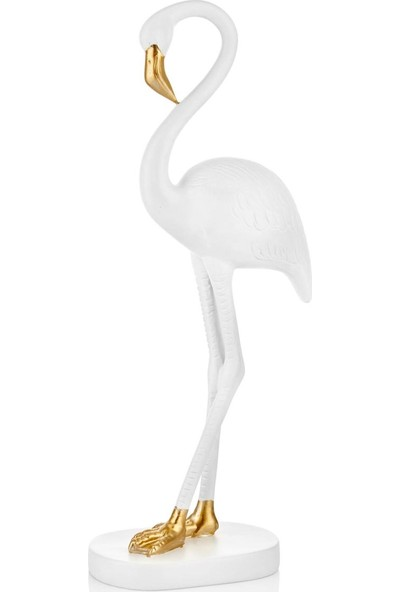 The Mia Flamingo 46 cm - Beyaz