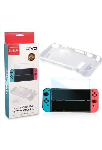 Ovio Nintendo Switch Koruyucu Sert Kılıf + Cam Ekran Koruyucu Oivo