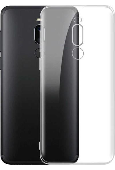 Tekno Grup Meizu Note 8 Silikon Kılıf Şeffaf + Nano Ekran Koruyucu Şeffaf