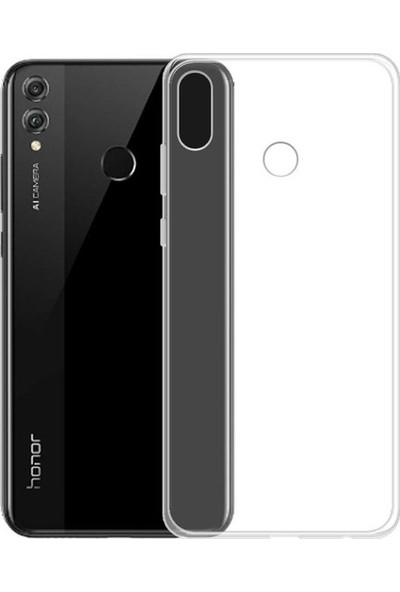 Tekno Grup Huawei Honor 8X Silikon Kılıf Şeffaf Şeffaf