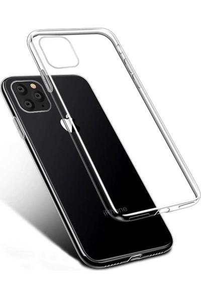 Tekno Grup Apple iPhone 11 Pro Silikon Kılıf Şeffaf + Cam Ekran Koruyucu Şeffaf