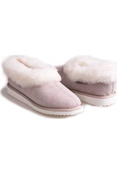 Pegia Süet İçi Kürklü Kadın Ev Ayakkabısı 191100