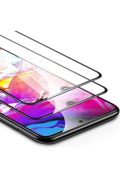 Diamond Glass Samsung Galaxy A30 Tam Kaplayan 5D Kırılmaz Ekran Koruyucu Cam