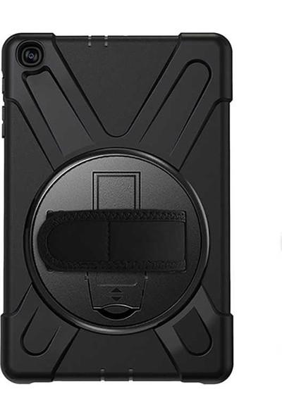 Tbkcase Samsung Galaxy Tab A 10.1 (2019) T510 Kılıf 360 Sert Tank Silikon Siyah