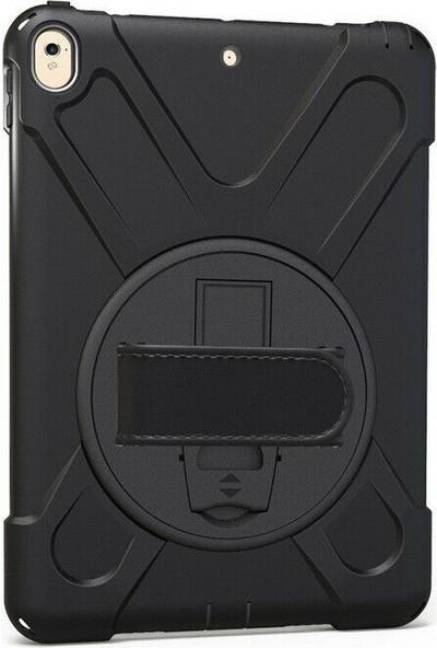 Tbkcase Apple iPad Pro 9.7 2017 Kılıf 360 Standlı Sert Tank Silikon Siyah