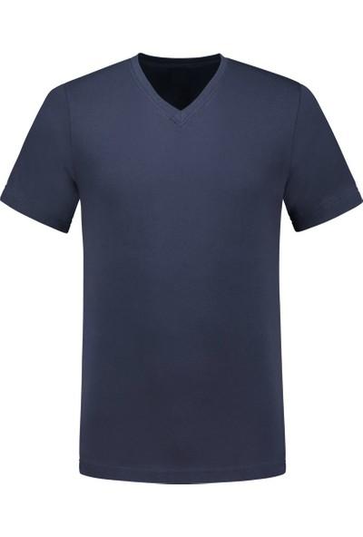 Kant V Yaka Kısa Kollu Cepli 30/1 Suprem Open End Tshirt