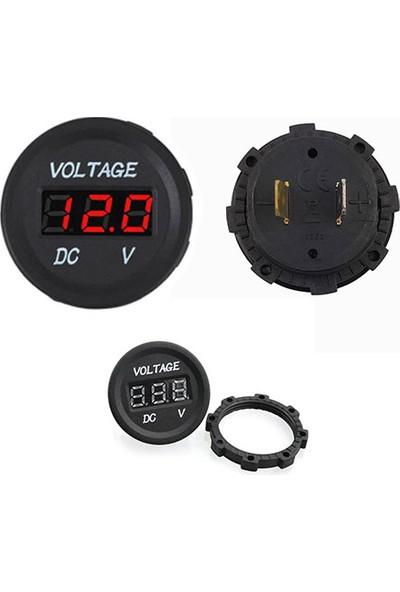 OEM Dijital Voltmetre Dc 12V Oto Motosiklet Tekne Için Kırmızı LED