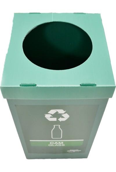 Temel Dönüşüm Kutusu Sıfır Atık Kutusu Yeşil Cam