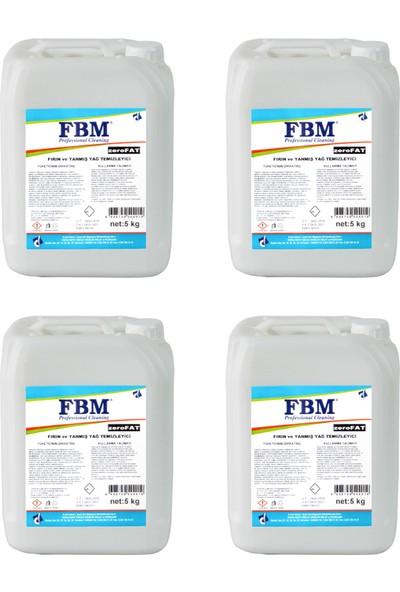 Fbm Zerofat-Fırın ve Yanmış Yağ Temizleyici 5 kg x 4 Adet