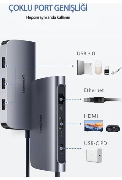 Ugreen Type-C HDMI Ethernet USB PD Dönüştürücü