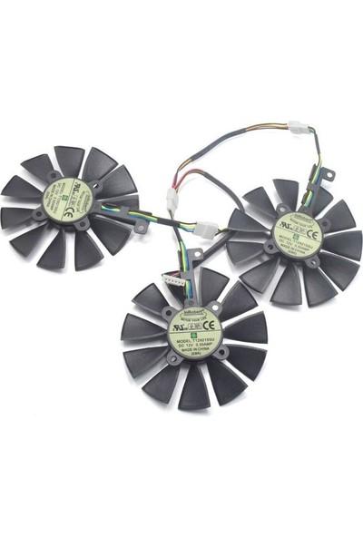 Asus Strix 980TI DC3OC Fan 3'lü 4/5/6 Pin Ekran Kartı Fanı
