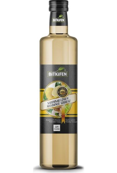 Bitkifen Sarımsak Limon Maydanoz Sirkesi - 500 ml - Katkısız - Doğal Fermente