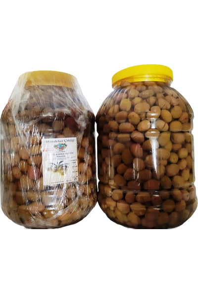 Doğal Fermente Yeşil Kırma Manzelina Zeytin 3,5 kg