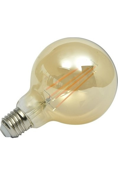 Maxima G95 Edison LED 6.5 W Uzun Filament 2700K Amber Sarı Işık