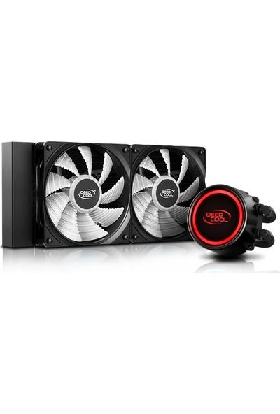 Deep Cool Gammaxx L240-V2 Soket Intel LGA20XX / LGA1366 / LGA115X ve AMD Am4 / Am3+ / Am3 / Am2+ / Am2 / Fm2+ / Fm2 / Fm1 Destekli Su Bazlı Işlemci Soğutucusu