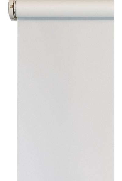 Efor Polyester Serisi Ekru Stor Perde Etekli Model