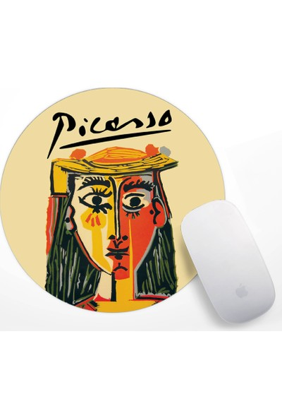 A Head Of A Woman In Hat Tasarım Mouse Pad