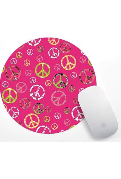 Barış Sembolü Tasarım Mouse Pad