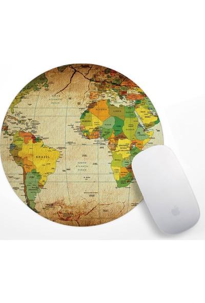 Dünya Haritası Tasarım Mouse Pad