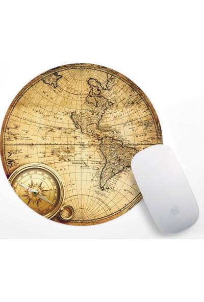 Eski Dünya Haritası Tasarım Mouse Pad