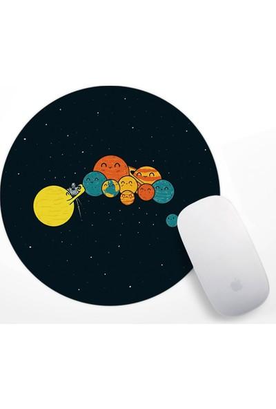 Gezegenler Tasarım Mouse Pad