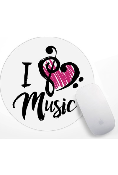 I Love Music Tasarım Mouse Pad