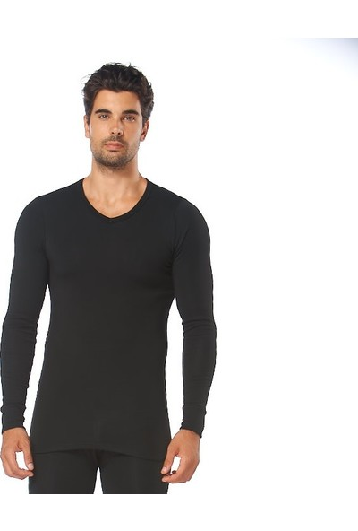 Sevim Erkek Termal Siyah Uzun KOL-9025