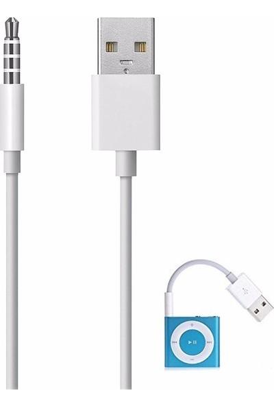 Kuvars Apple iPod Shuffle Şarj Data Kablosu 3. 4. 5. Nesil Uyumlu Kablo