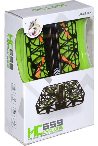 Gepettoys Darbelere Dayanıklı Mini Drone Kafes Drone HC659 Turuncu