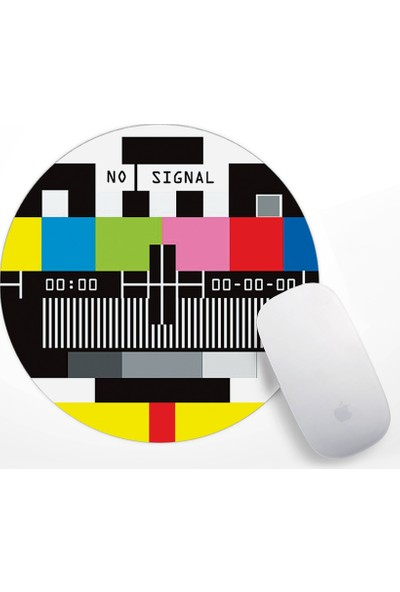 Retro Tv No Signal Tasarım Mouse Pad