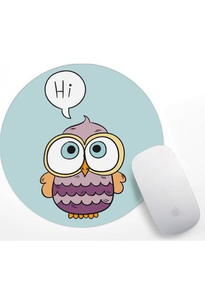 Sevimli Baykuş Tasarım Mouse Pad