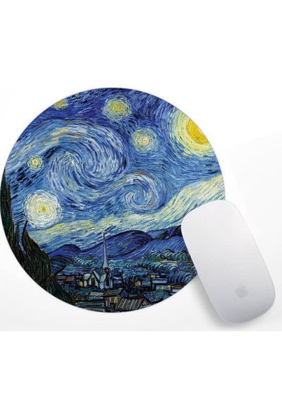 Van Gogh Starry Night Tasarım Mouse Pad