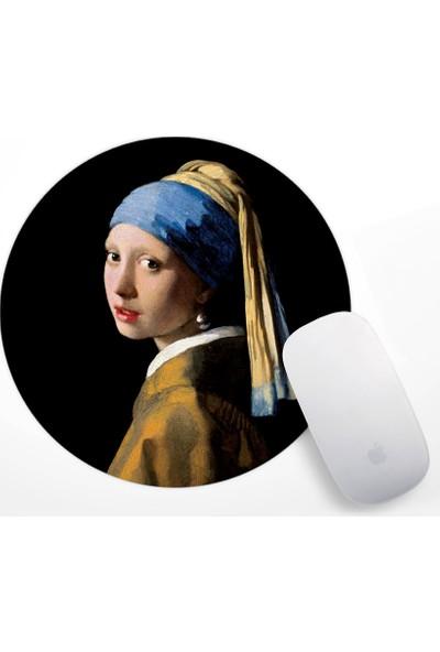 Vermeer Inci Küpeli Kız Tasarım Mouse Pad