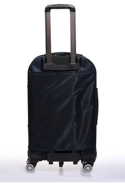 Nk Unisex Kumaş Orta Boy Valiz Nk9W005 M Lacivert Lacivert