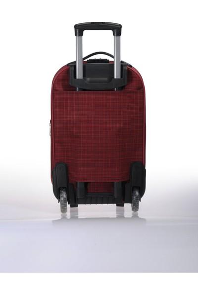 Nk Unisex Kumaş Kabin Boy Valiz Nk002 S Bordo Bordo