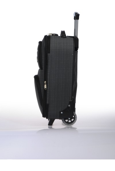 Nk Unisex Kumaş Kabin Boy Valiz Nk002 S Füme Füme