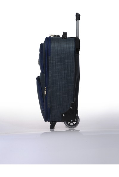 Nk Unisex Kumaş Kabin Boy Valiz Nk002 S Lacivert Lacivert