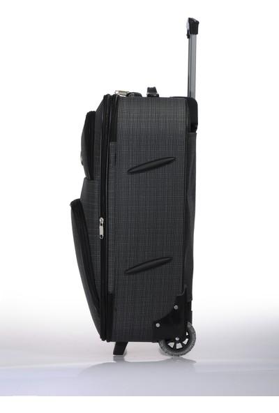 Nk Unisex Kumaş 3 Lü Set Valiz Nk002 Set Füme Füme