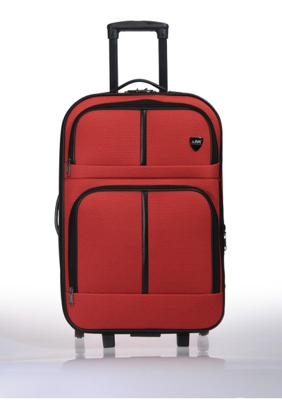 Nk Unisex Kumaş Orta Boy Valiz Nk022 M Kırmızı Kırmızı