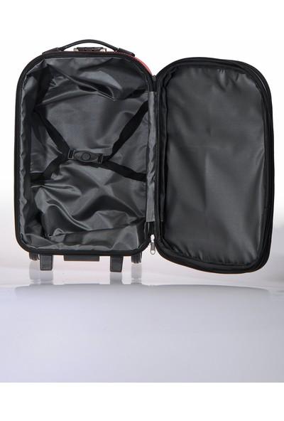 Nk Unisex Kumaş Kabin Boy Valiz Nk022 S Kırmızı Kırmızı